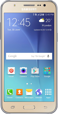Samsung Galaxy J5 (2016) (16GB Gold) at £168.00 on O2 Refresh 4G (24 Month(s) contract) with UNLIMITED mins; UNLIMITED texts; 2000MB of 4G data. £19.00 a month.