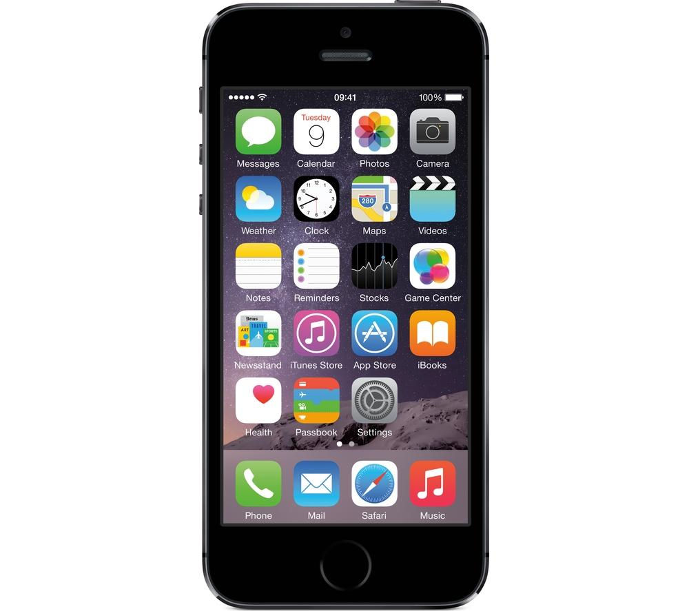 Apple iPhone 5s - 32 GB, Space Grey, Grey