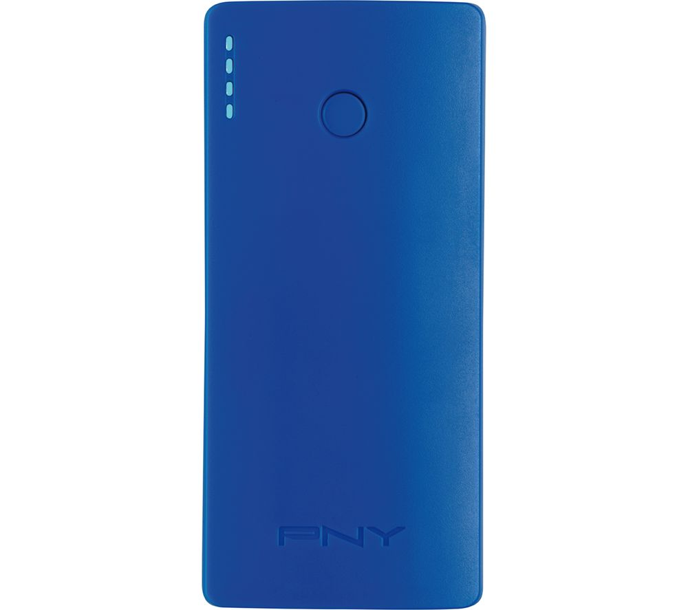 PNY Curve 5200 Portable Power Bank - Blue, Blue