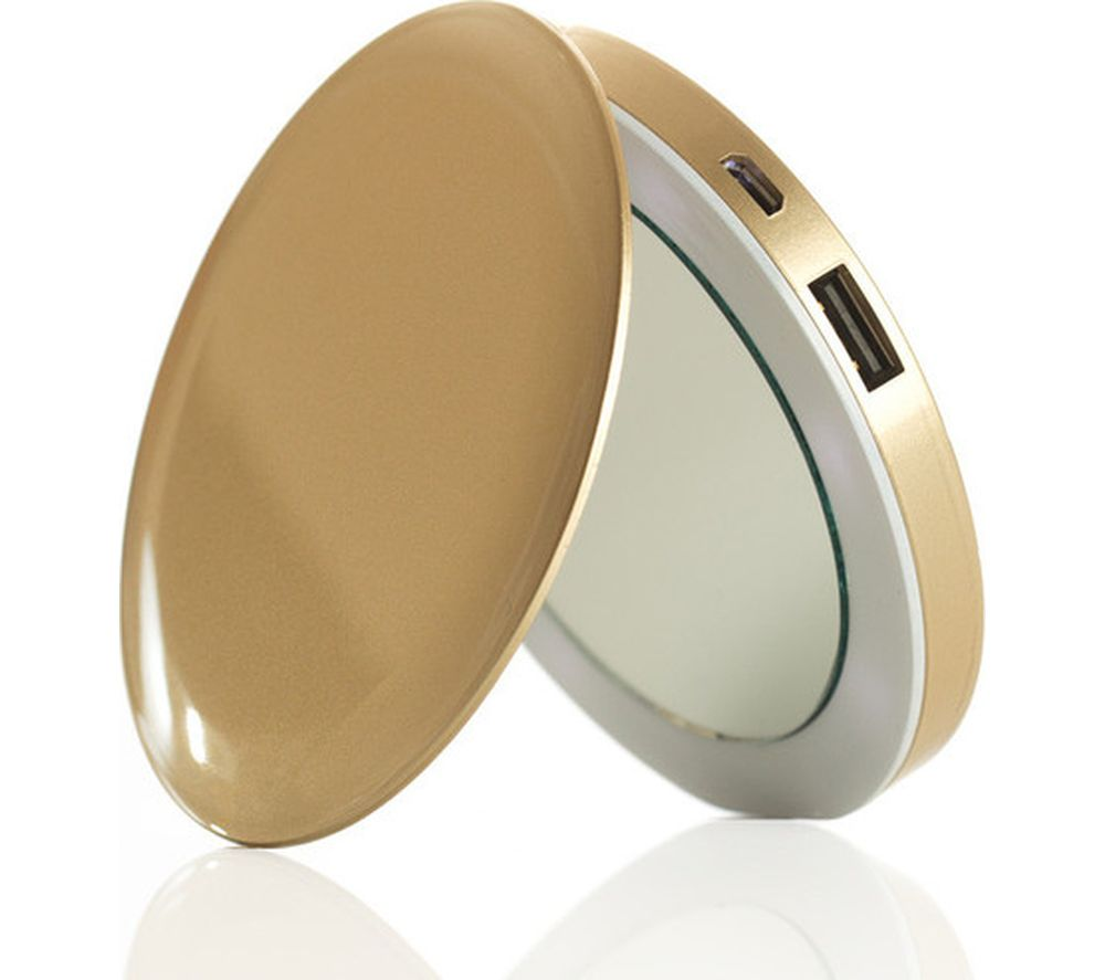 HYPER Pearl Make-Up Mirror 3K Portable Power Bank - Gold, Gold