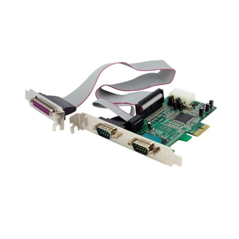 StarTech.com 2S1P Native PCI Express Parallel Serial Combo Card with 16550 UART - PCIe 2x Serial 1x Parallel RS232 Adapter Card