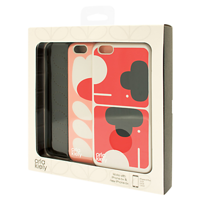 Orla Kiely Elephant and Tulip Stem Cases for iPhone 6+, Pack of 2, Multi