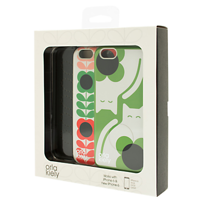 Orla Kiely Cat & Flower Stem iPhone 6 Twin Pack