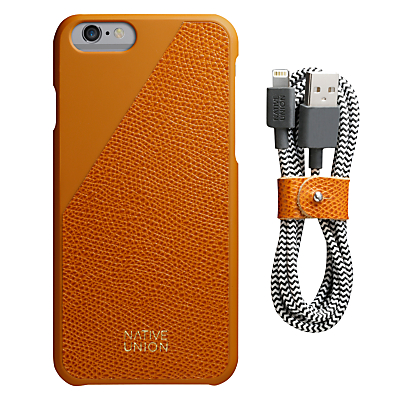 Native Union Clic Leather Case and USB Cable for iPhone 6/6s