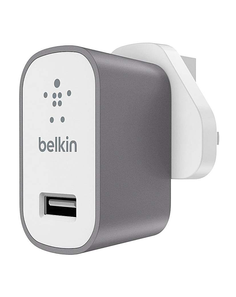 Belkin MixIt Mains Charger UK Grey