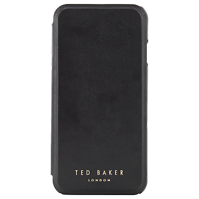 Ted Baker Faux Leather Case for iPhone 7, Black