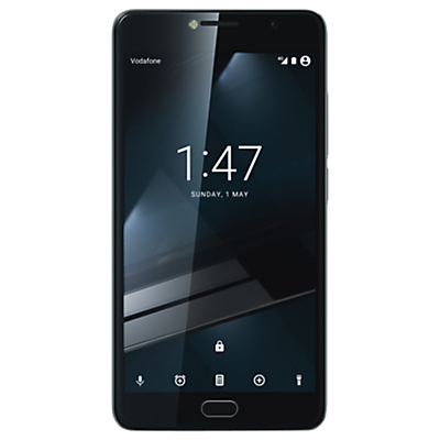 Vodafone Smart Ultra 7 Smartphone, Android, 5.5, Pay As You Go (£10 Top Up Included), 16GB, Dark Grey