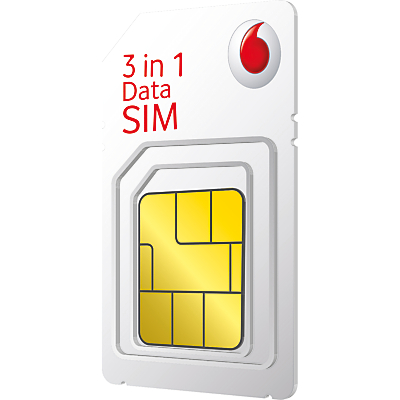 Vodafone 3-in-1 SIM Pack, £10 Top Up