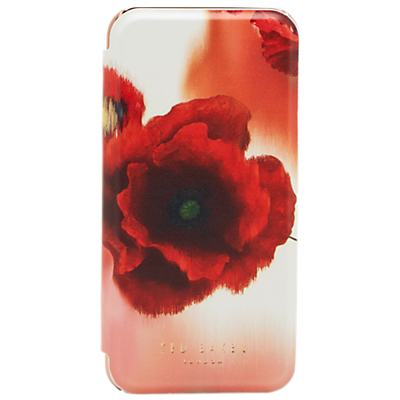 Ted Baker Carleto iPhone Mirror Case, Mid Red